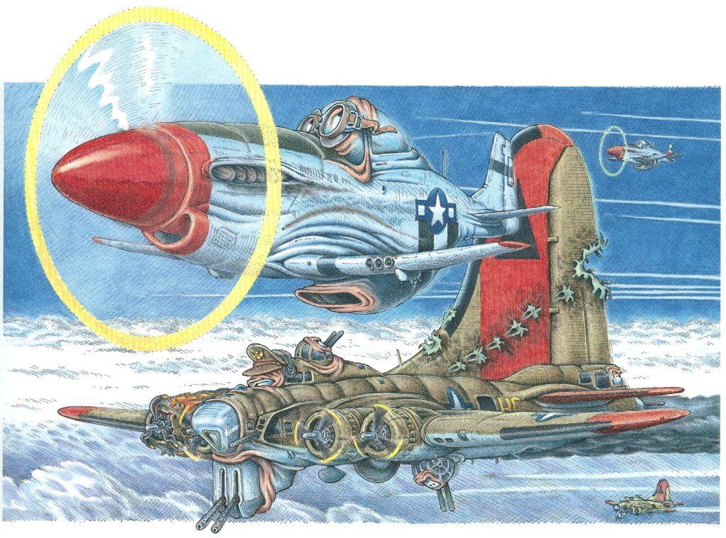 Warbirds by Hank Caruso  | Loco-aviones | Airplane drawing