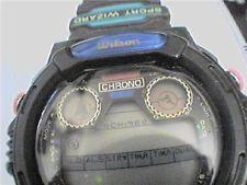 UNUSUAL SPORT WIZARD WILSON LCD CHRONO ALARM WATCH RUNS