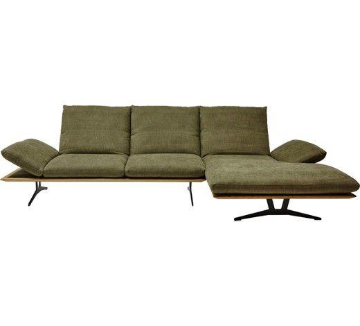 Wohnlandschaft In Holz Textil Grun Wohnen Couch Grun Und
