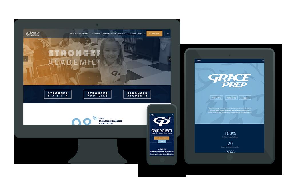 Grace Prep Ardent Creative Inc Creative Web Design Web Design Creative