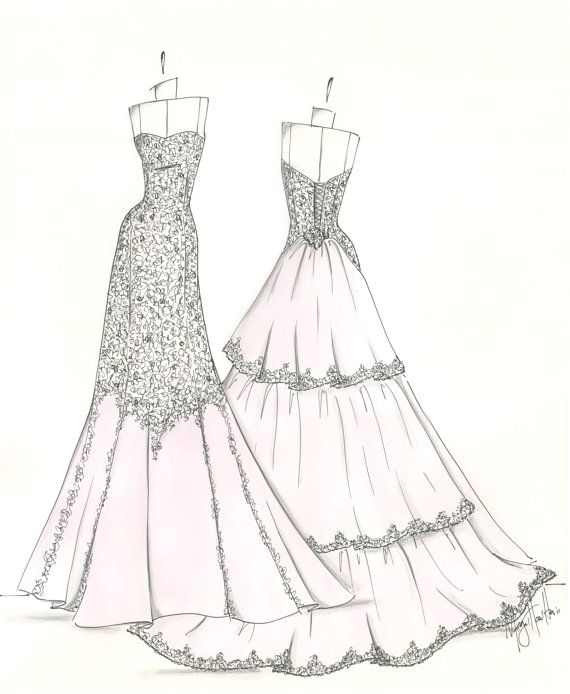 Pin by Alissa on Wedding Gown Sketches | Pinterest | Wedding dress ...