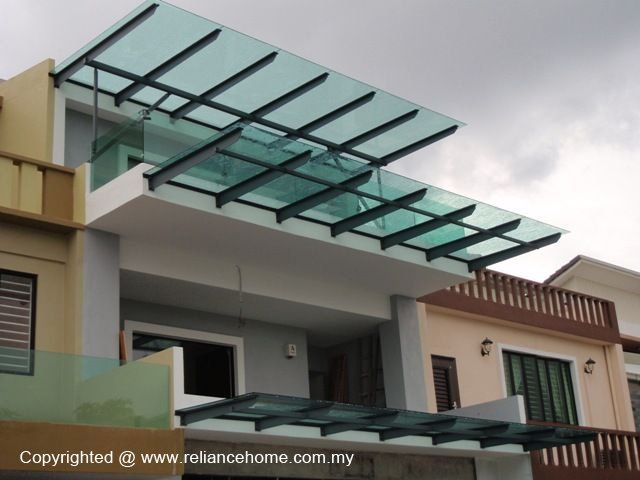 Skylight Glass Roofing Glass Awning Balcony Design House With Porch Canopy Design