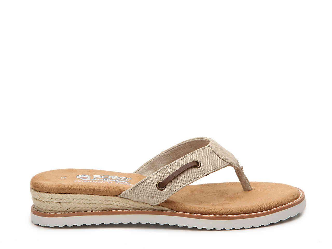 Wedge sandals, Skechers bobs