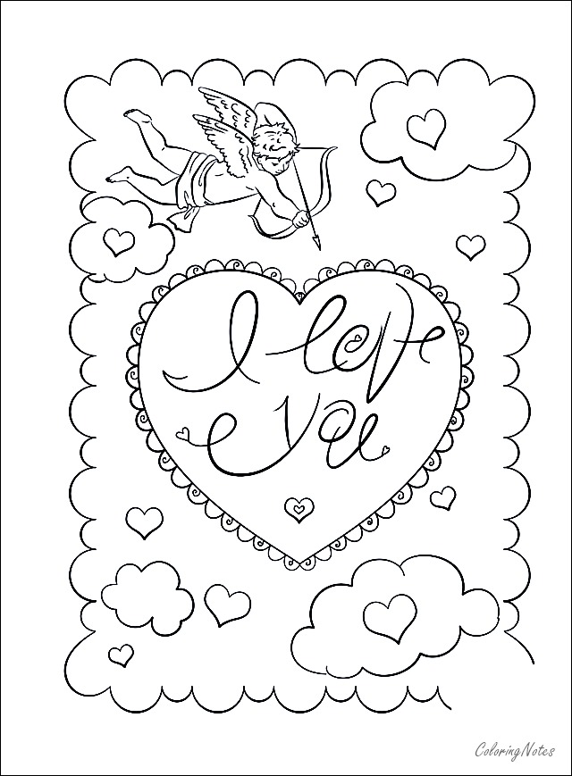 Valentines Day Card Coloring Pages Printable Valentines Day Coloring Page Valentines Day Coloring Valentine Coloring Pages