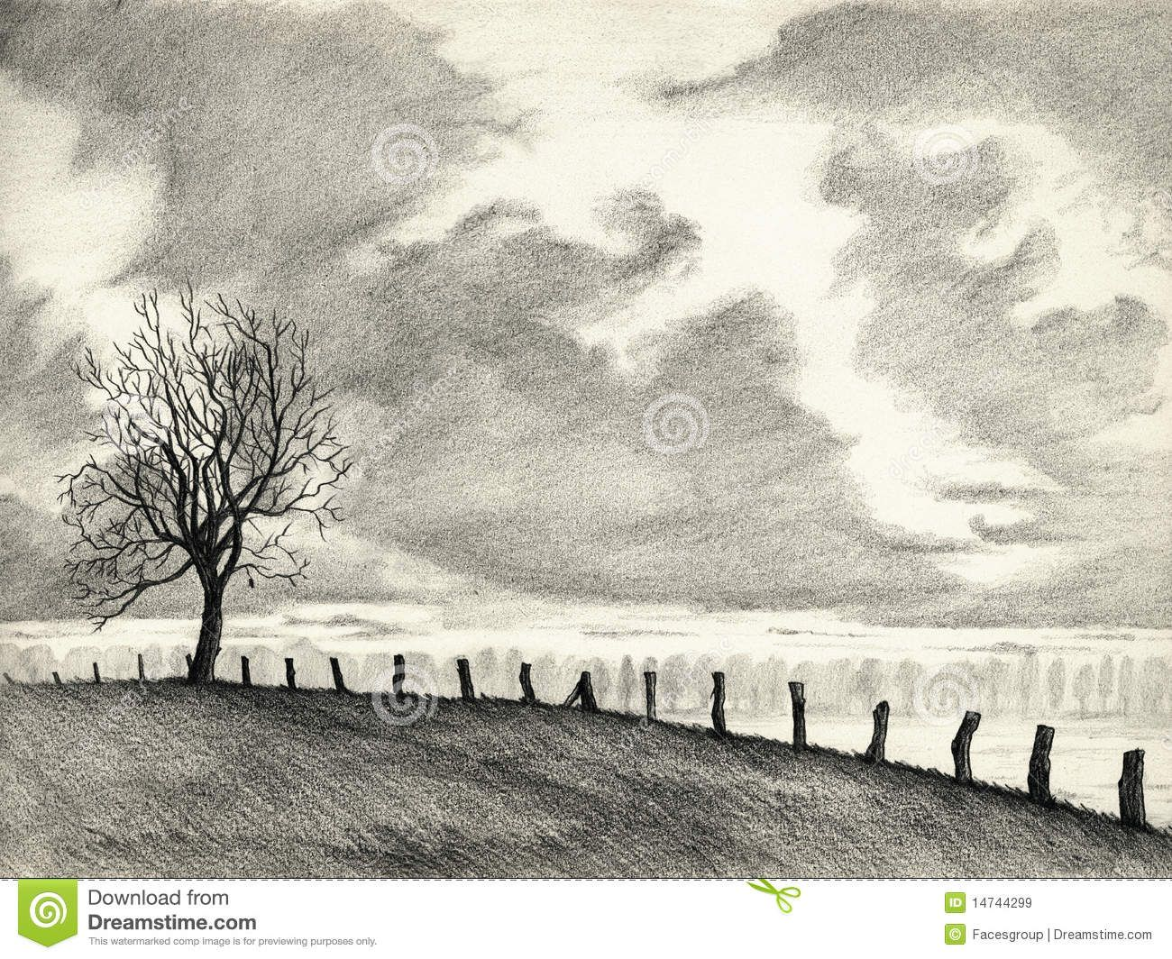 easy drawing landscapes - Google Search