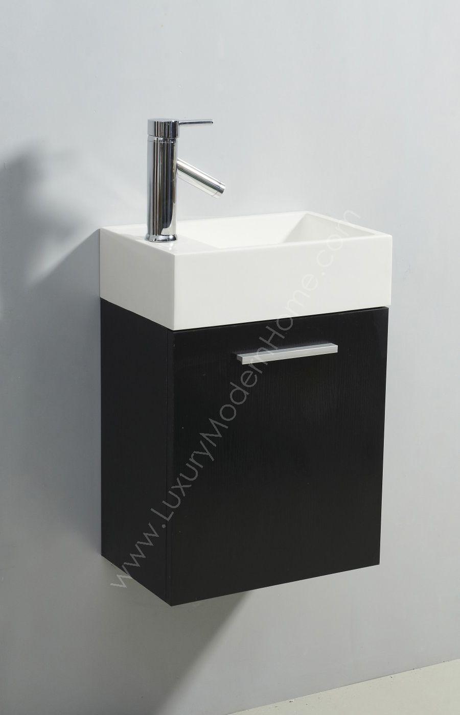 Wg E Aleius Inch Small Bathroom Vanity Sink Sinks Cabinet Espresso Wall Hung Mount