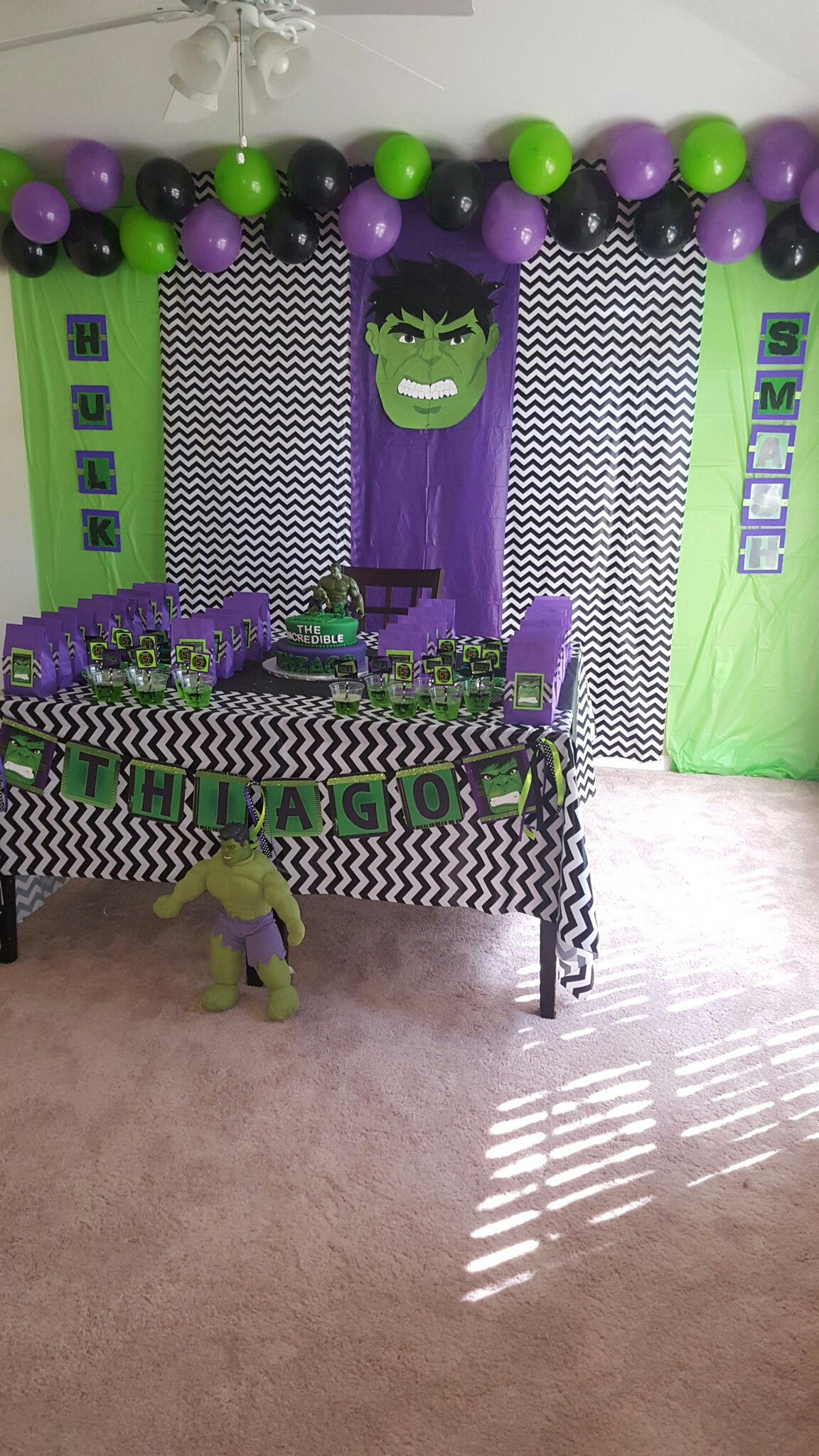 Pin By Dagma Maldonado On Hulk Smash Birthday Party