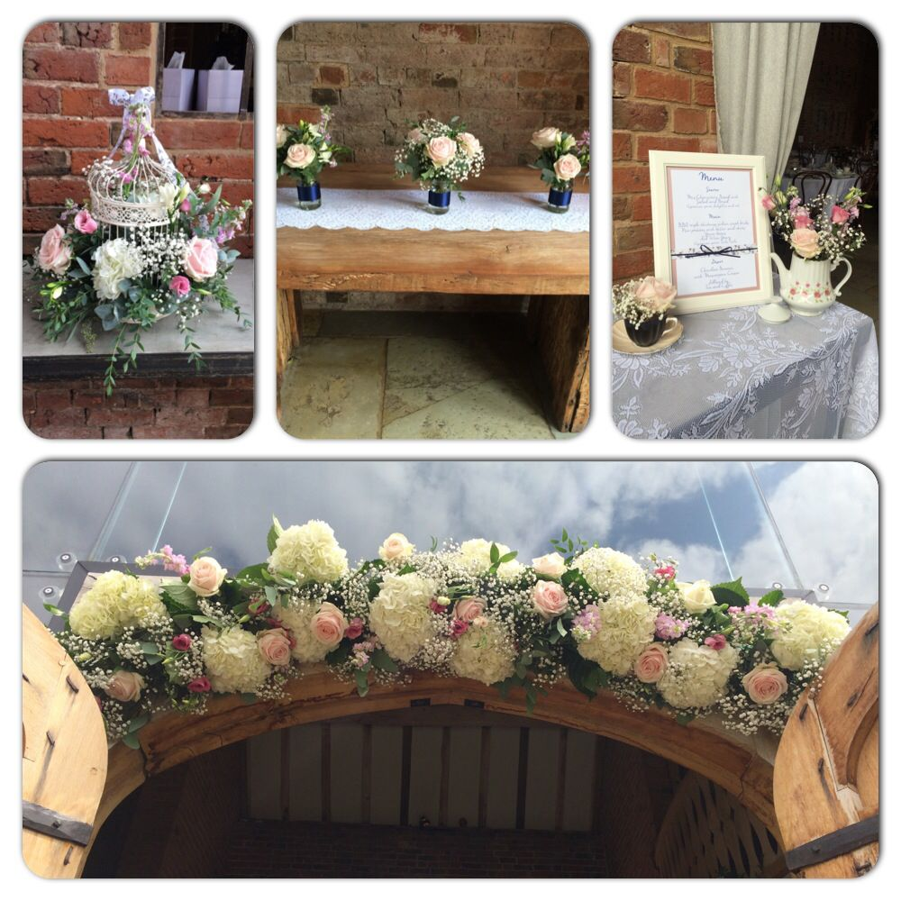 Wedding Reception West Midlands: Country Rustic Flowers Created For Wedding Reception At