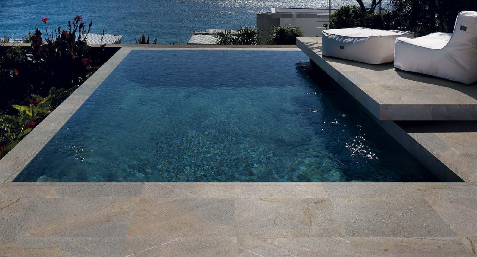 Ergon cornerstone granite stone 20mm 60x60 cm x604f7 for Pool in steinoptik