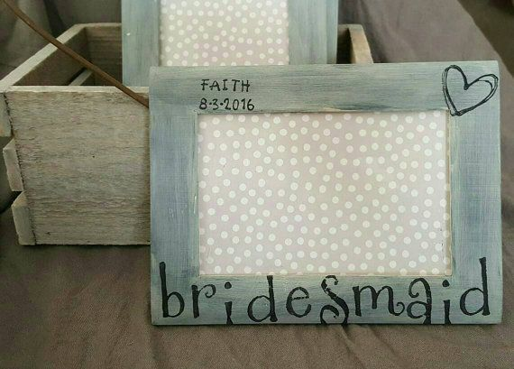 Bridesmaid Picture Frame- Bridesmaid Gift - Rustic Bridesmaid Frame ...