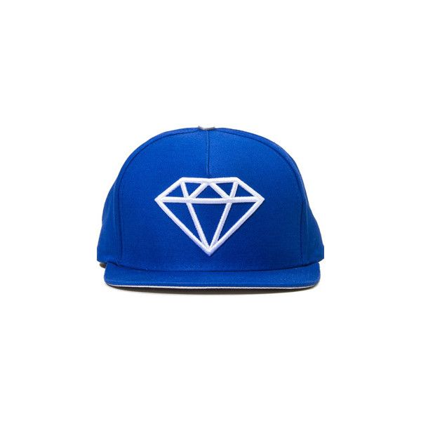 Diamond Supply Co Rock Logo Snapback Hat 40 Liked On Polyvore Featuring