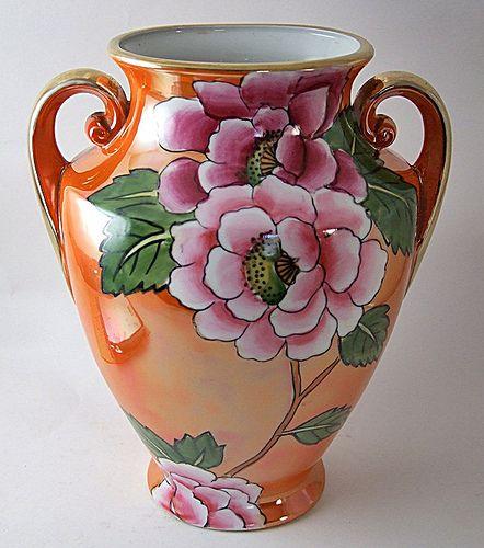 Hand Painted 1920s Japan Noritake Vase Ceramics Porcelains