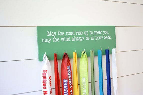 Medal Holder Irish Proverb Medium by YorkSignShop on Etsy