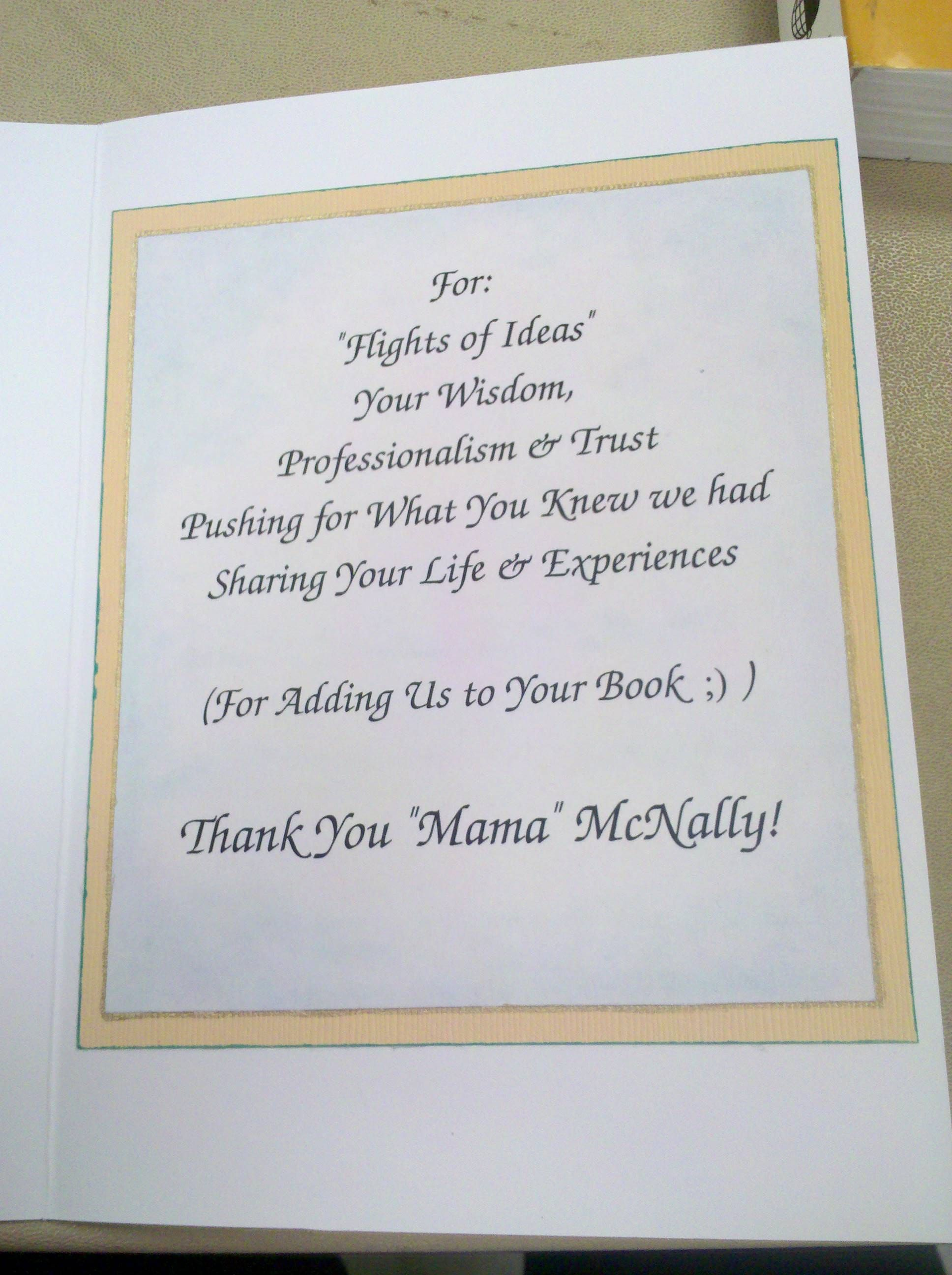 Thank You Card For A Nursing Clinical Instructor 5 Interior My