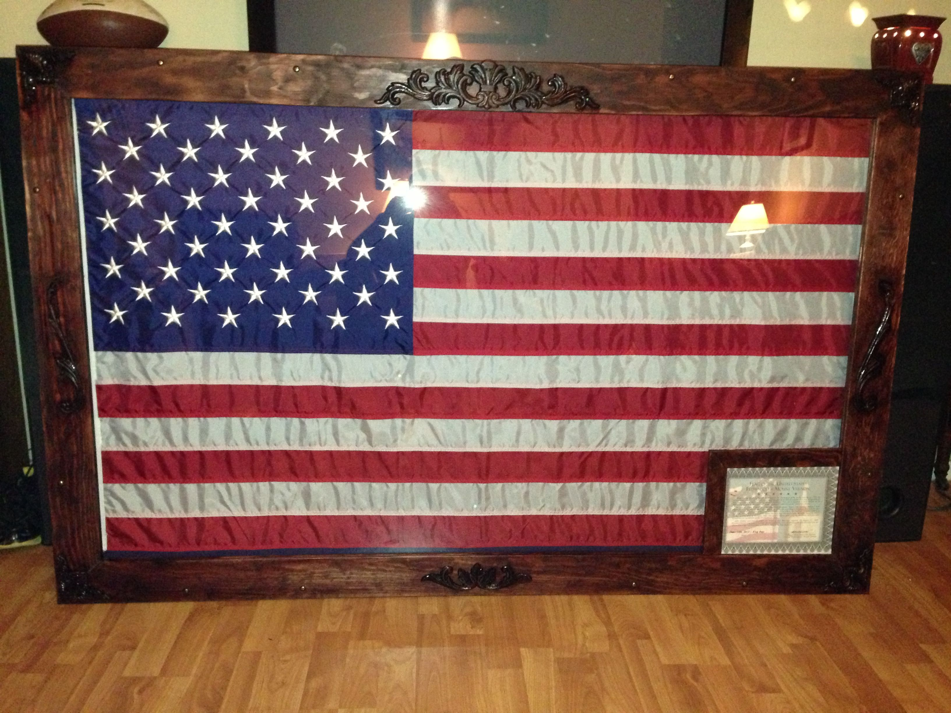 Diy 3x5 Flag Shadow Box Frame Home Stuff Pinterest