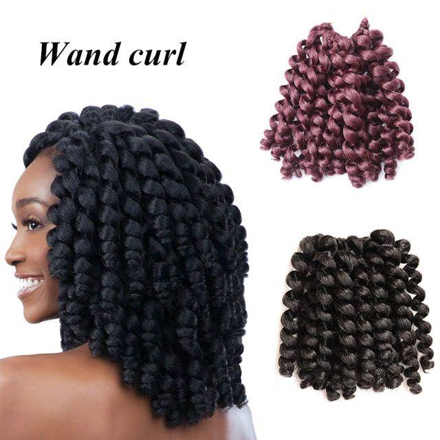 Online Shop 8-10 Inch Wand Curl Crochet Hair Extensions Ombre Kinky Twist Hair Crotchet Braids Synthetic Crochet Braids Hair Extensions | Aliexpress Mobile - 11.11_Double 11_Singles' Day #crotchetbraids