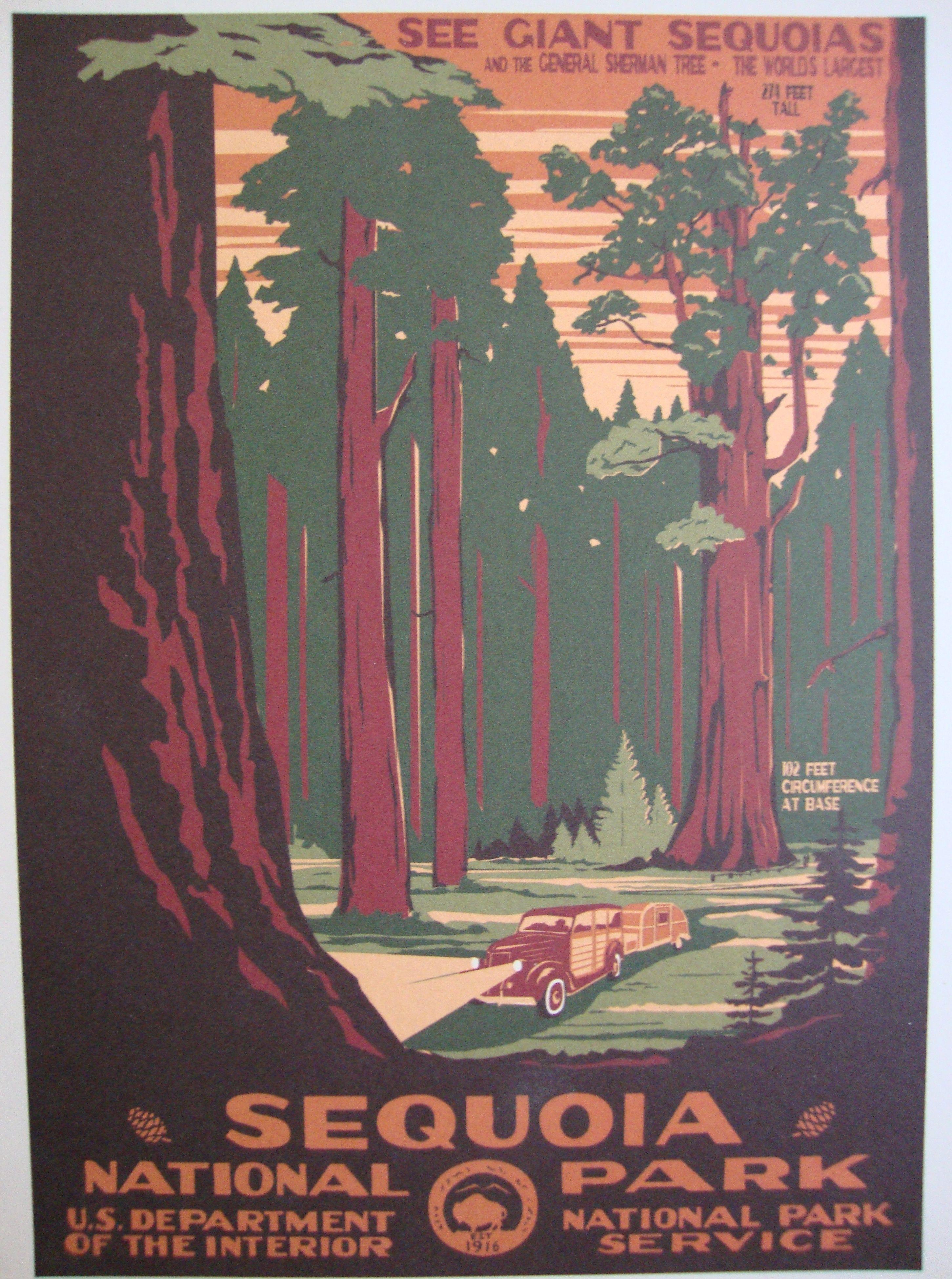 Vintage National Park Posters Part - 47: Vintage National Park Poster | Heart Old Houses | Celebrating Vintage Homes  And Vintage Style On