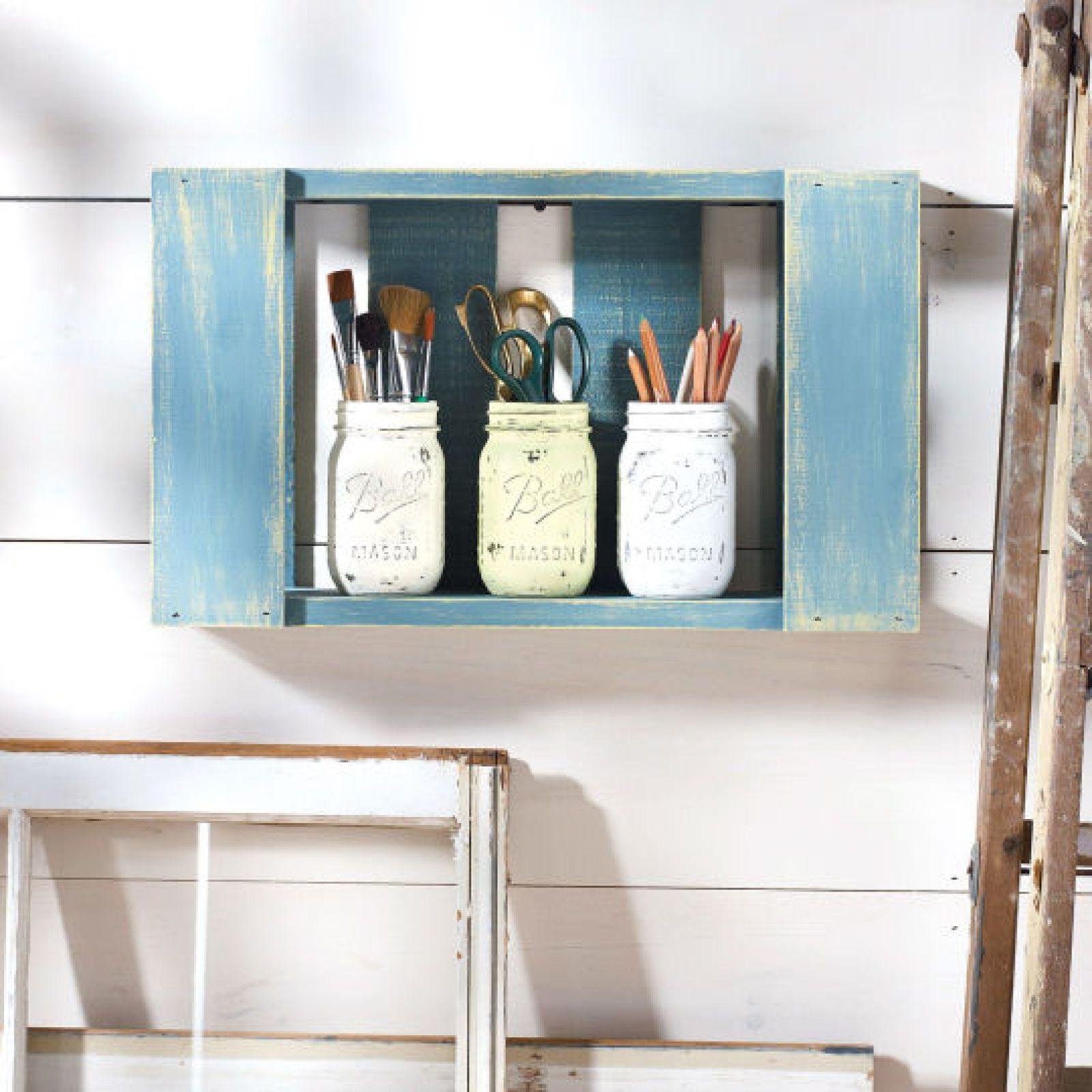Martha Stewart Crafts Vintage Decor Pallet Organizer For the Home