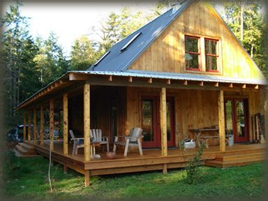 "owner-built house, cabin and barn kits from shelter-kit®. ""how"