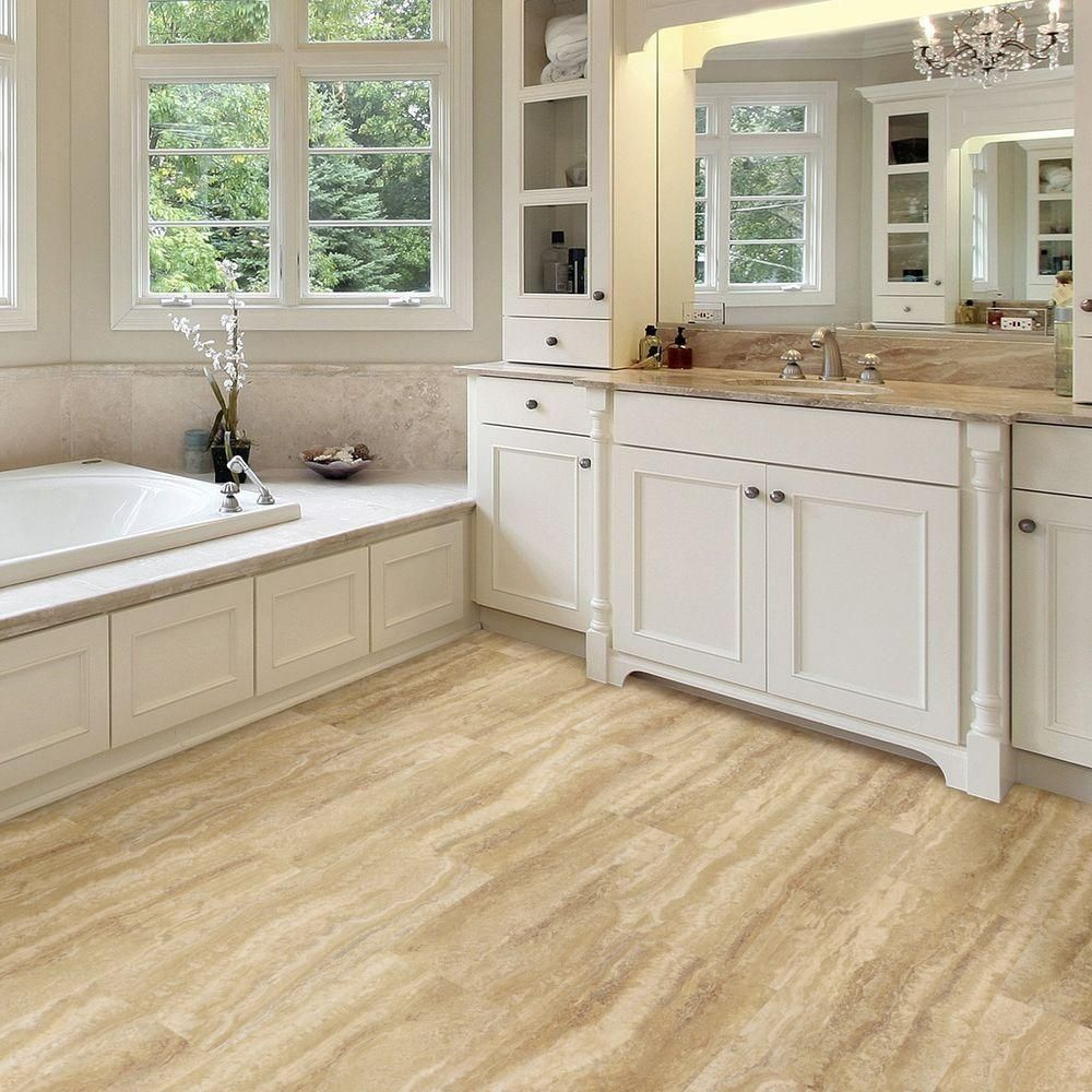 Allure flooring for bathrooms - Trafficmaster Allure Ultra 12 In X 23 82 In Aegean Travertine Ivory Luxury Vinyl Tile Flooring 19 8 Sq Ft Case