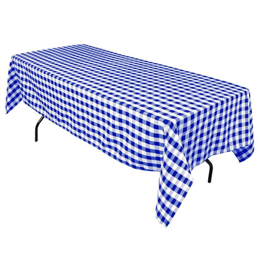 60 X 102 in. Rectangular Tablecloth Checkered   Black ...