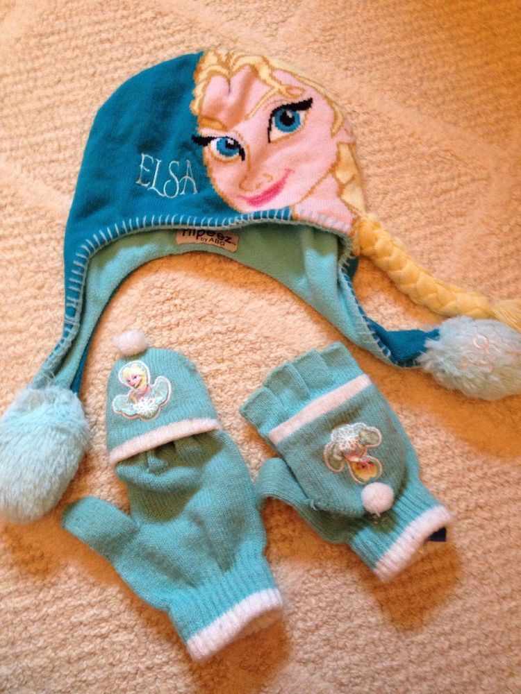 Disney Frozen Elsa Flipeez Winter Hat New