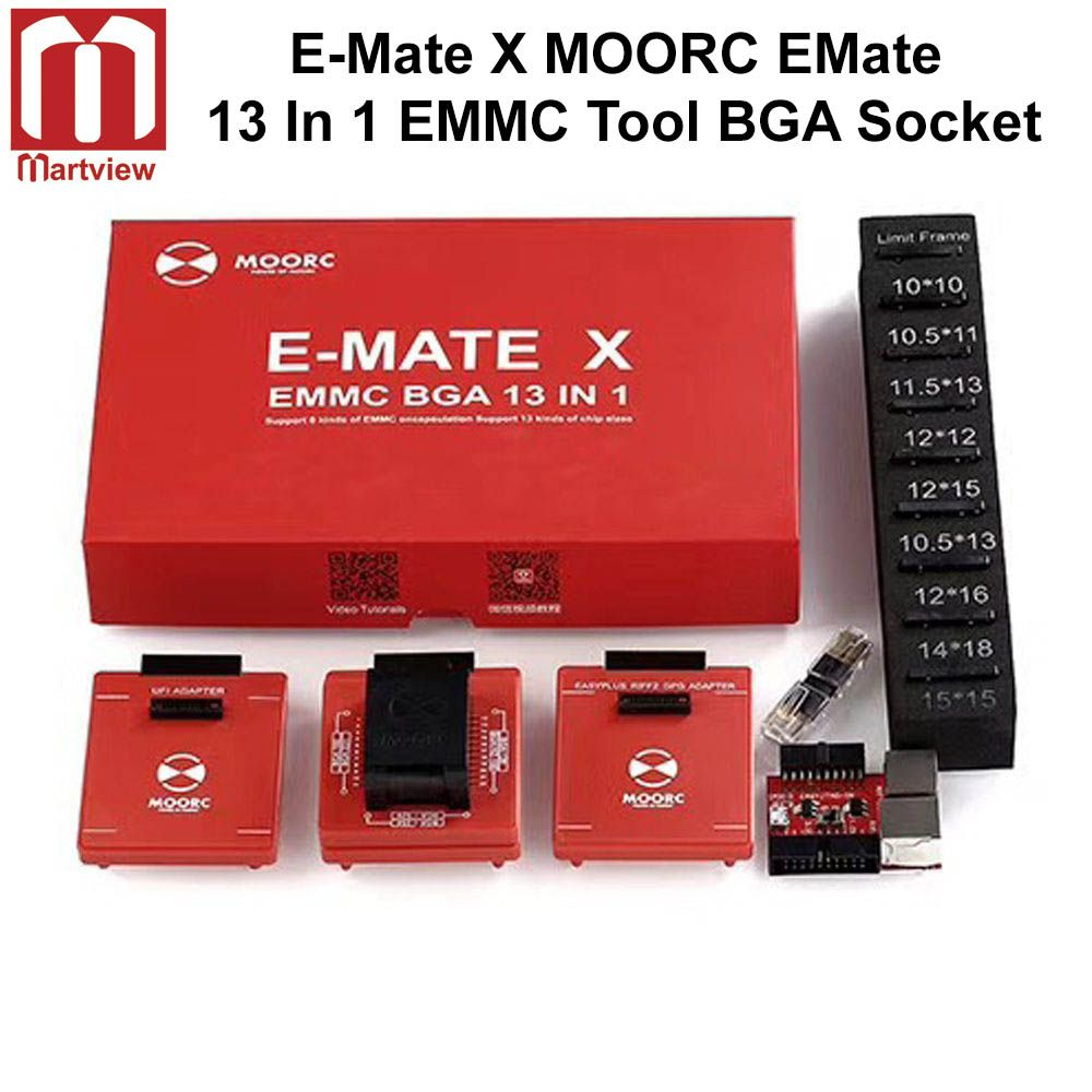E-Mate X MOORC EMate 13 In 1 EMMC Tool BGA Socket For Easy JTAG Plus