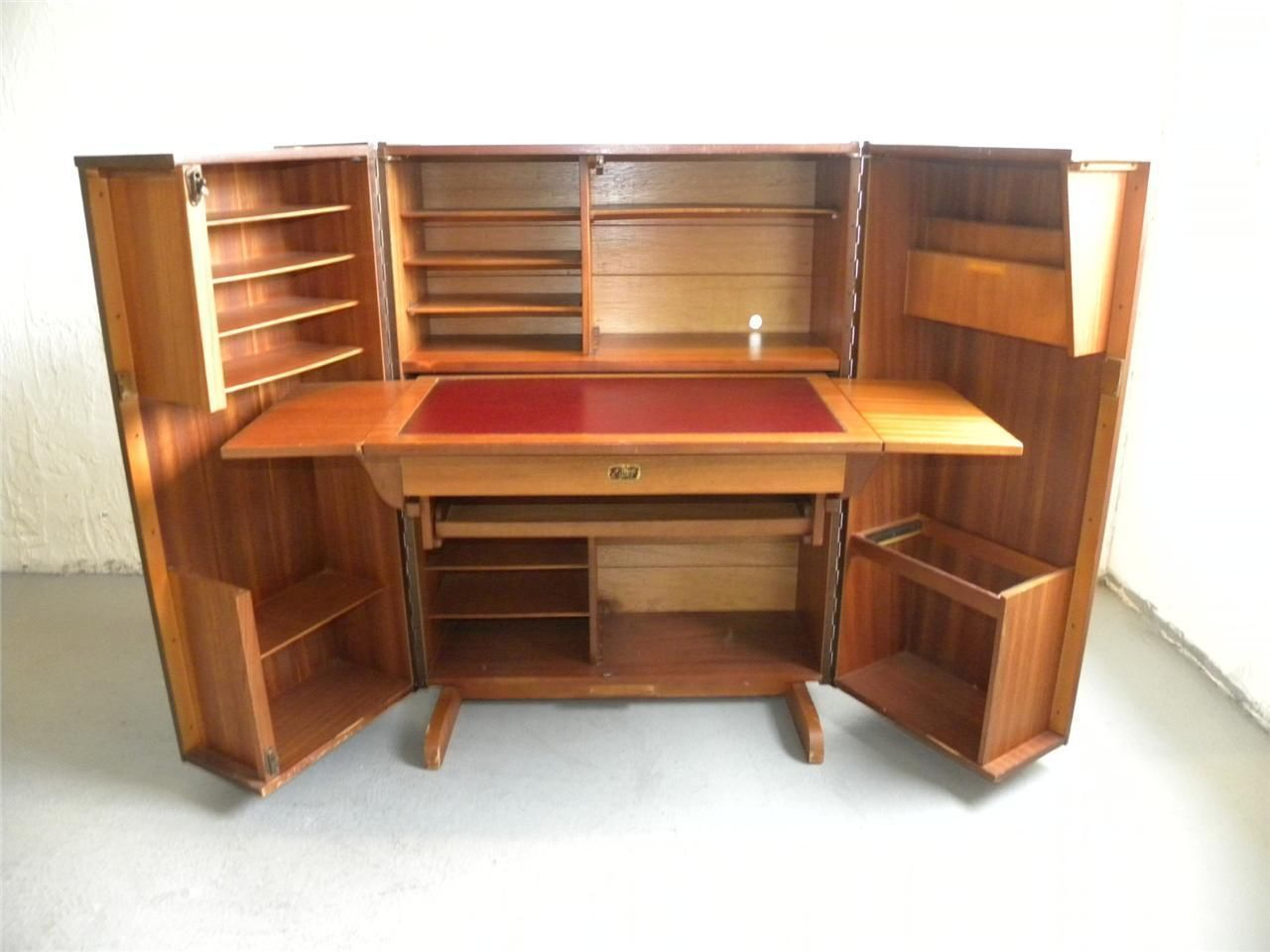 Unique Vintage Trunk Style English Secretary Desk Work Station | eBay - Unique Vintage Trunk Style English Secretary Desk Work Station