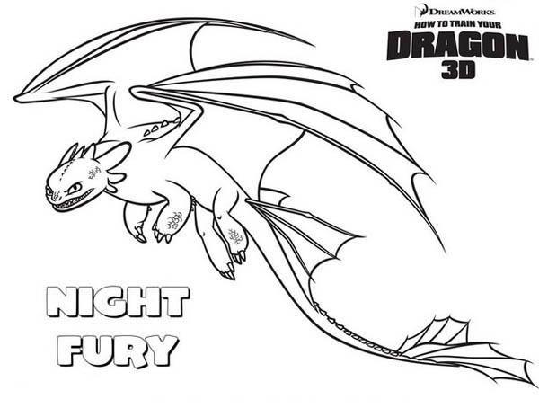 Dragon Night Fury Coloring Pages Novocom Top