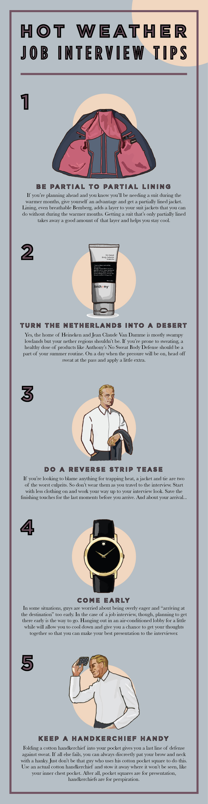 what to wear for interview in hot weather