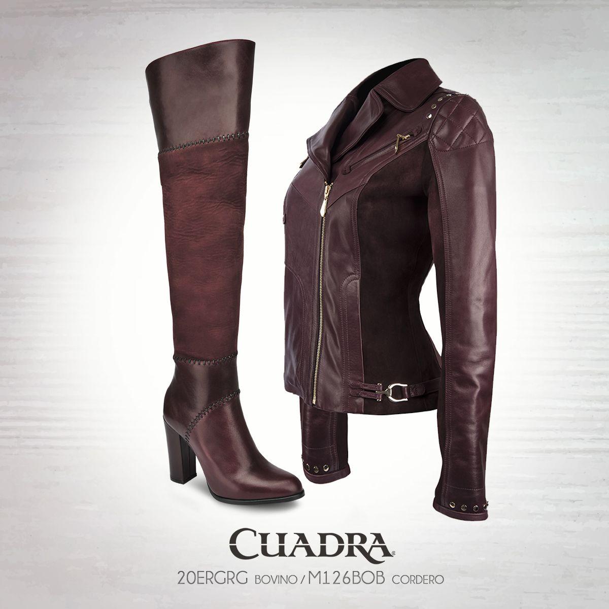 450fd5fa9e3a4 Hechos para estar juntos.  cuadra moda fashion boots  chamarra leatherjacket leather tinto bota dama