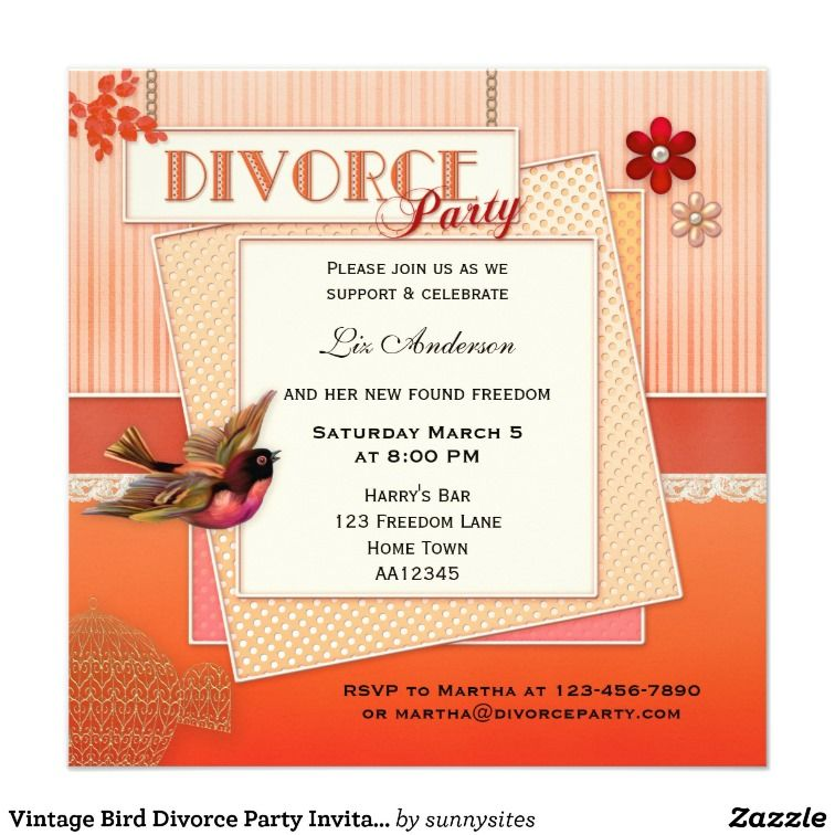 Divorce Party Ideas - Invitations and Customizable Supplies ...