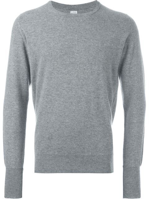 Popular Cheap Price cashmere crew neck jumper - Grey E. Tautz Cheap Purchase Limited Edition For Sale Fast Shipping guNSToEp