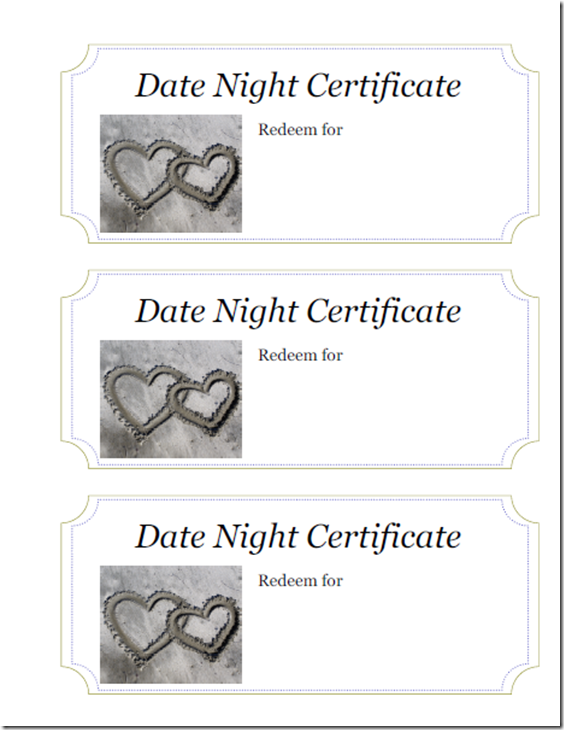 Making your significant others holiday brighter with a date night making your significant others holiday brighter with a date night themed gift printable certificatesdate yadclub Choice Image