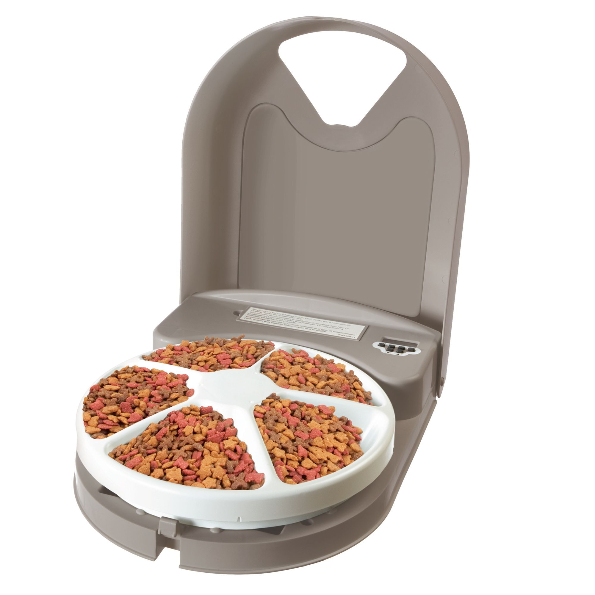 PetSafe Eatwell, 5 Meal Automatic Pet Feeder, Gray Cat