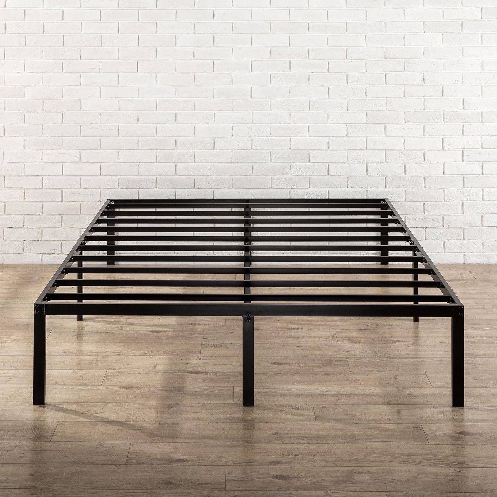 Metal Platform Bed Frame With Steel Slat Support Full Size
