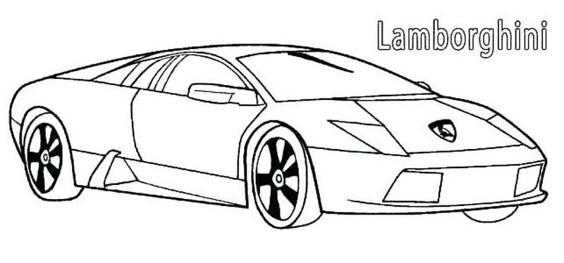 Coloring Pages Of A Lamborghini Free In 2020 Cars Coloring Pages Lamborghini Coloring Pages For Kids