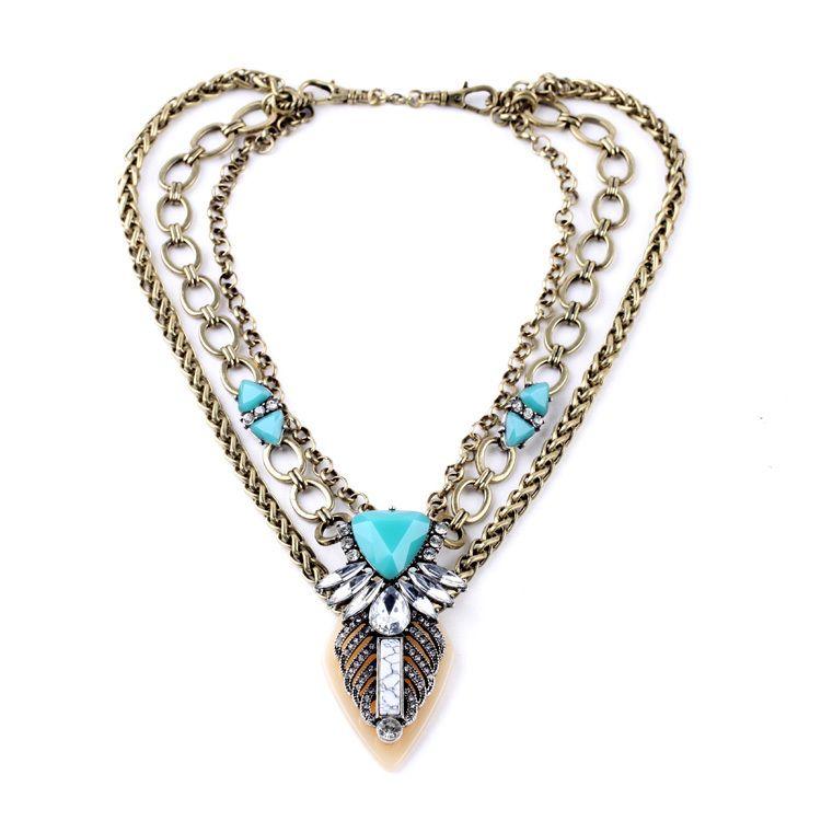 New item turkey jewelry wholesale retail personality retro new item turkey jewelry wholesale retail personality retro multilayer inlay blue necklaces pendants affiliate mozeypictures Gallery