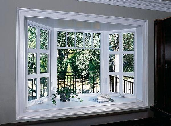Wonderful Hereu0027s A Beautiful Bow Window Idea. The Oversized Grids In The Side  Casement Windows Are