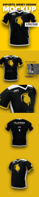Download 4K Esports Jersey Design Mockup. Professional customizable ...