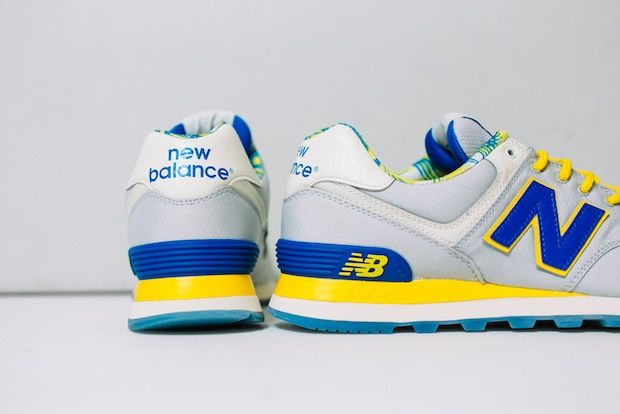 a6f25fc5f9bc Tropical vibes add subtle detail to a summer teaser with the New Balance  574