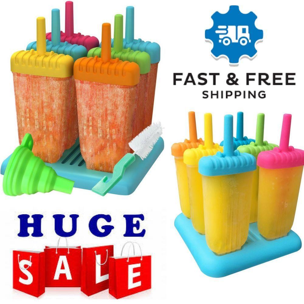 Frozen ice pop popsicle plastic sticks molds w silicone