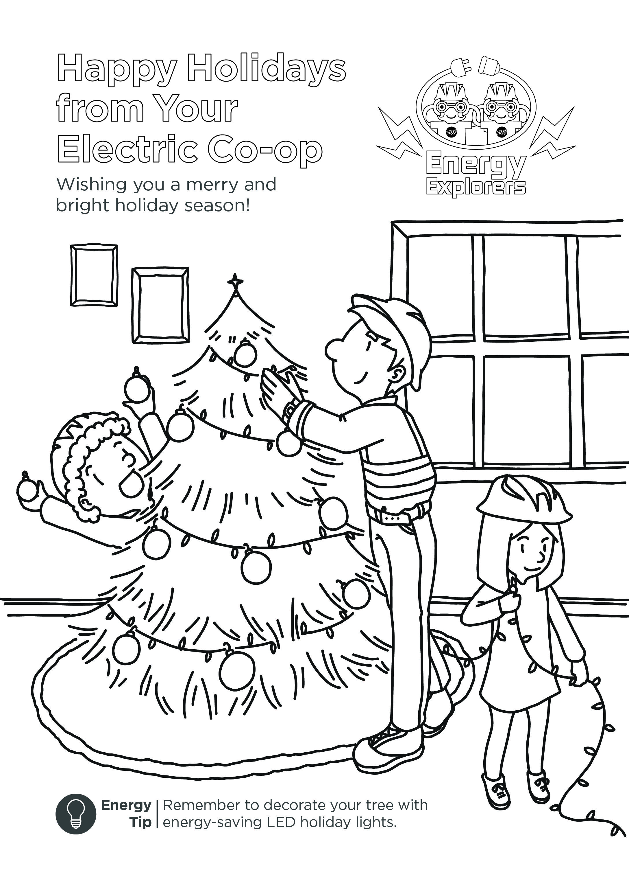 Co Op Kids Holiday Coloring Sheet Remember To Decorate
