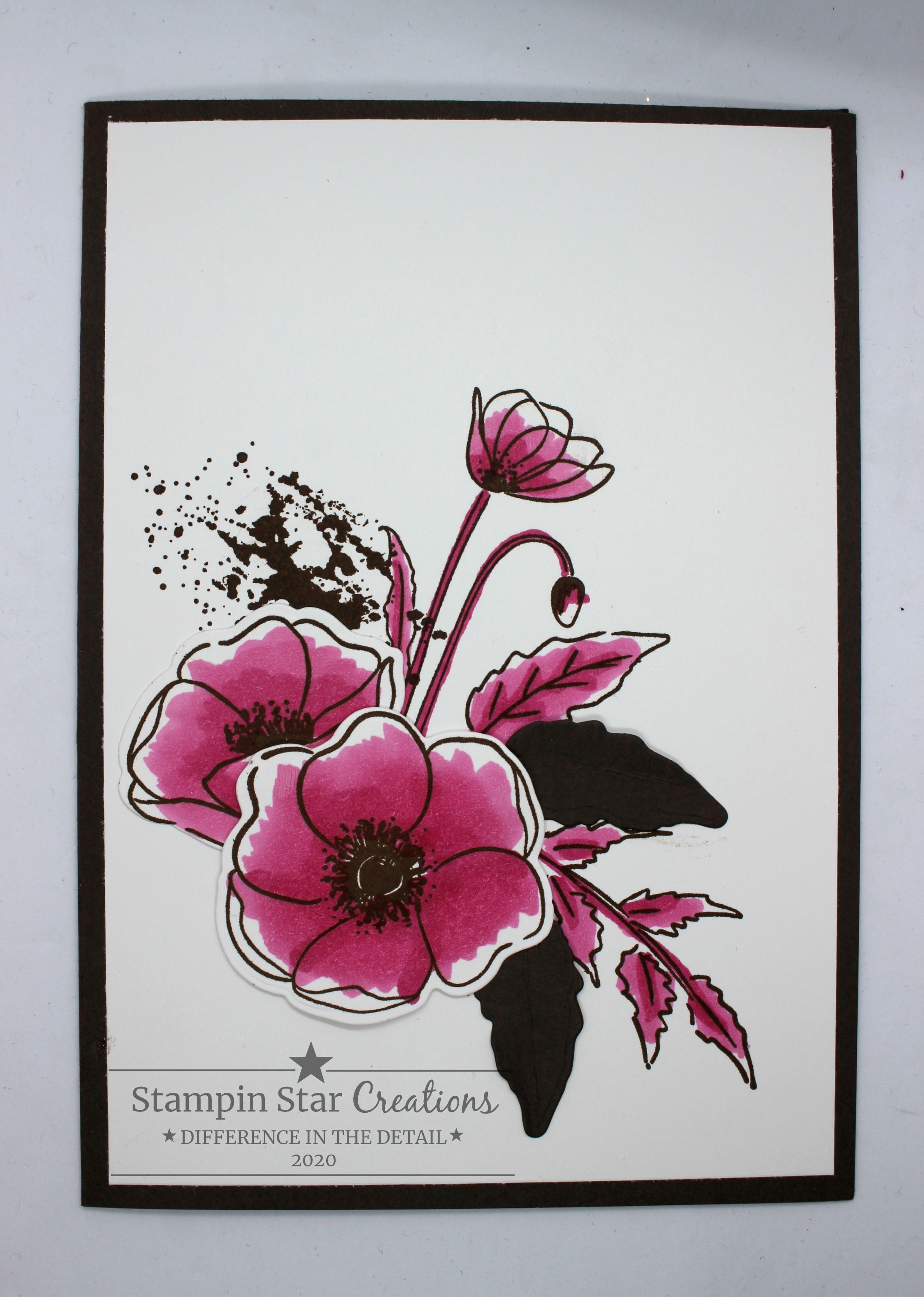 Photo of Painted Poppies Suite, Stampin Up, Poppy Card