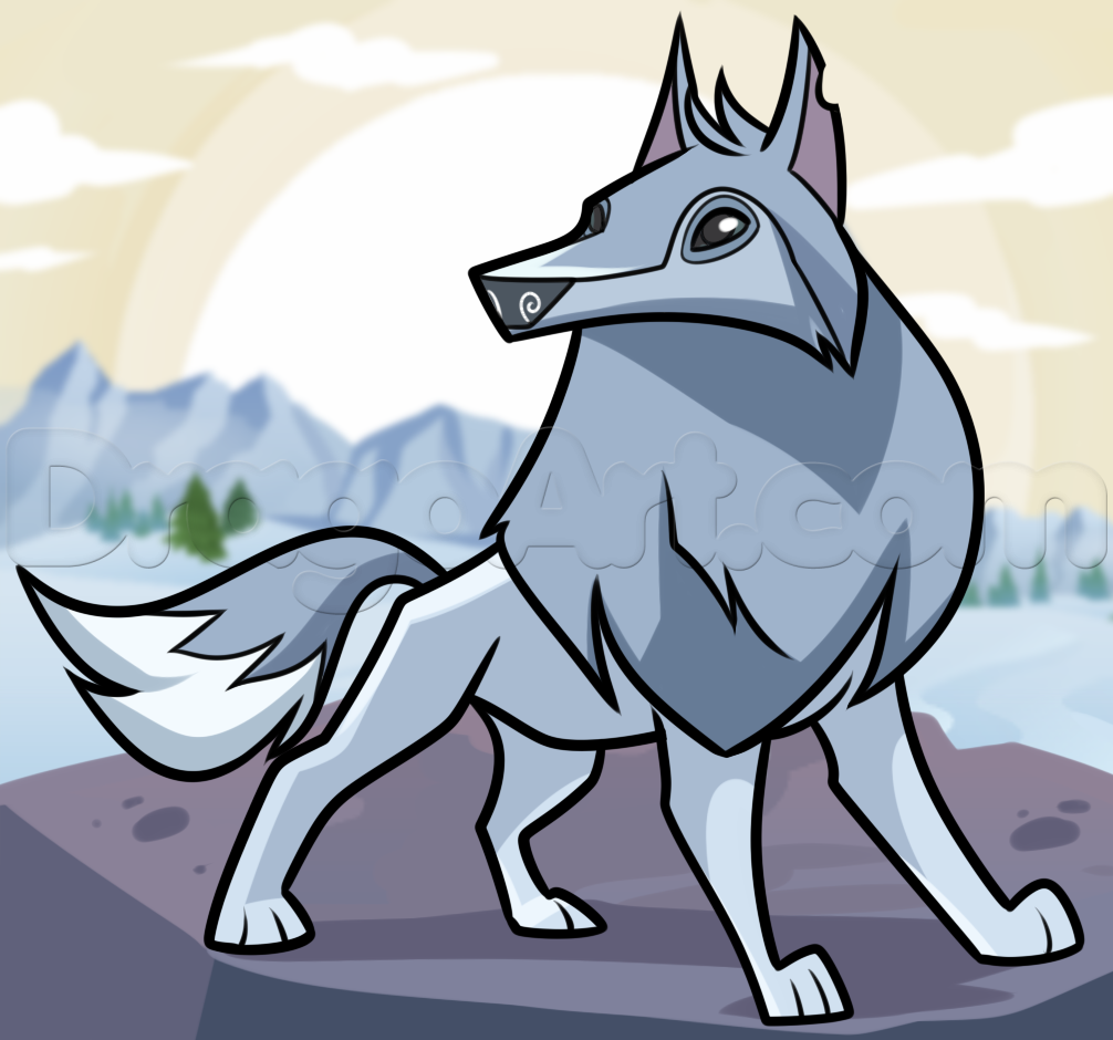 Coloring pages animal jam - How To Draw An Animal Jam Arctic Wolf