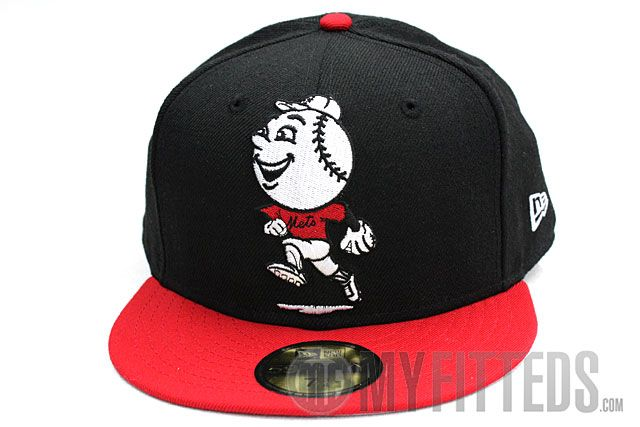 baseball caps met logo police cap new york jet black scarlet white era fitted lange klep