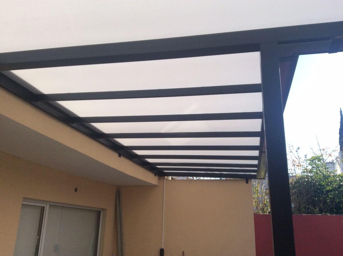 pergolas de hierro en cao estructural a medida con techo