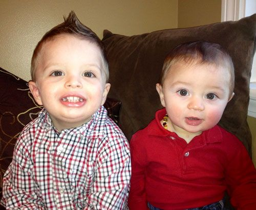 North Haven Litigation Attorney Chris Cramer has two sons, and they dressed up in a red button-down shirt and red polo to support the American Heart Association!