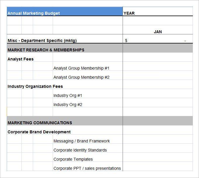 marketing budget plan template marketing budget template the