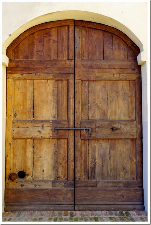 Old Spanish Door. All Its Missing Is The Family Crest And Cast Iron Casings
